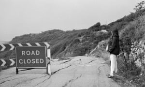 Road Closed... because it had fallen into the sea, thanks to the Isle of Wight's notorious Blue Slipper (or Gault) clay