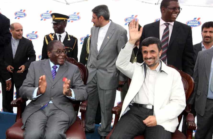 Robert Mugabe and Mahmoud Ahmadinejad