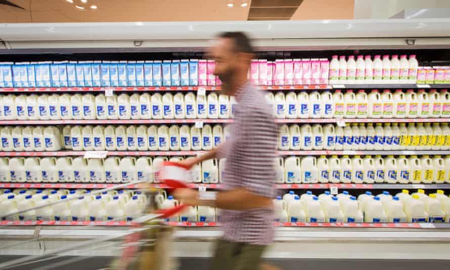 A man in a supermarket
