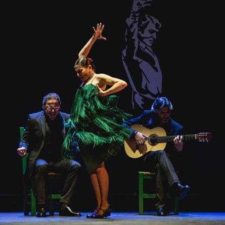 Sara Baras, centre: 'Flamenco artists often have longer careers than other kinds of dancers'