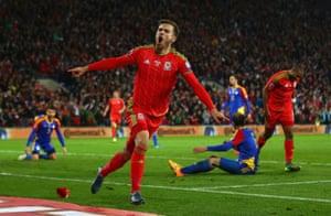 Ramsey celebrates the breakthrough.
