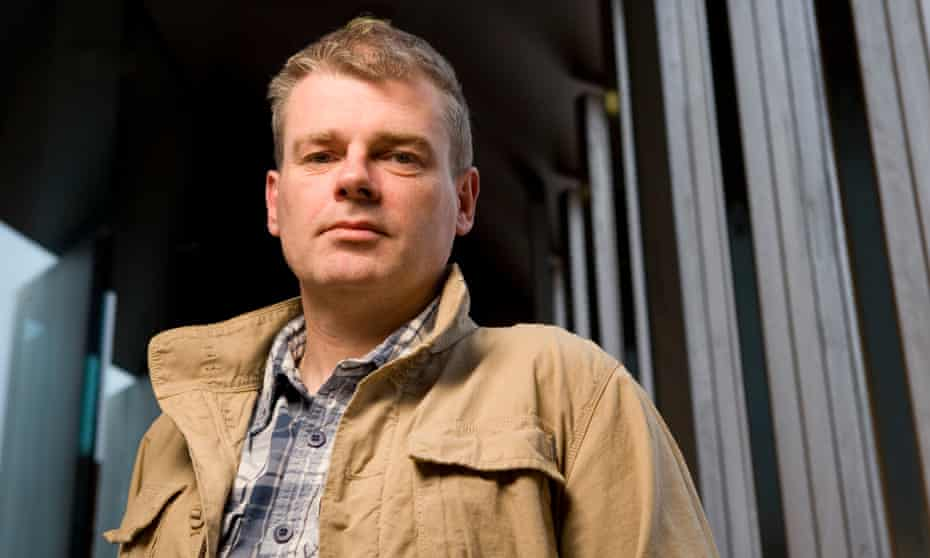 Mark Haddon photographed at the Jerwood Space in South East London