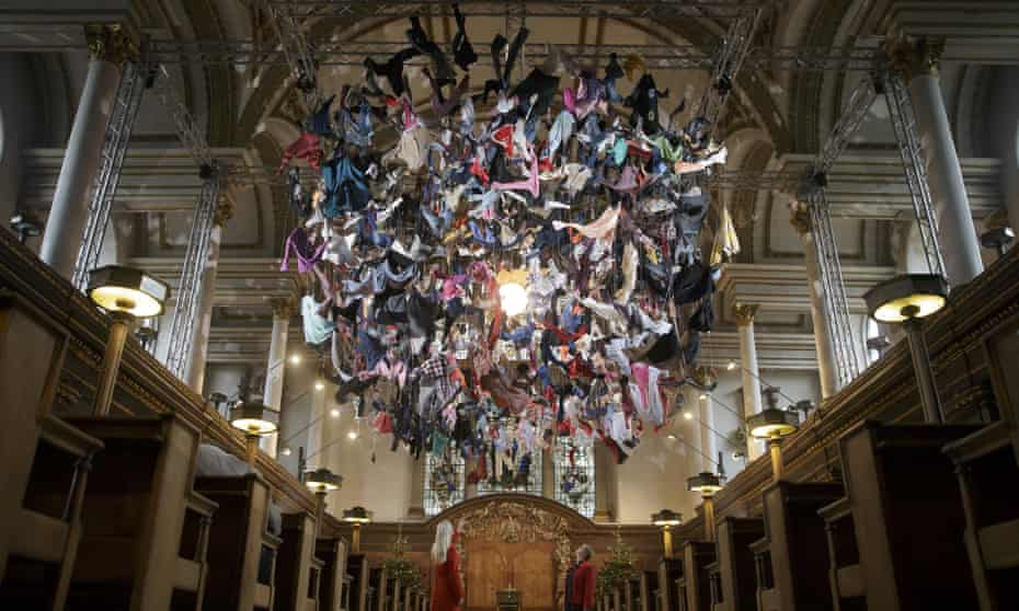 The artwork, Suspended, at St James's church in Piccadilly, London