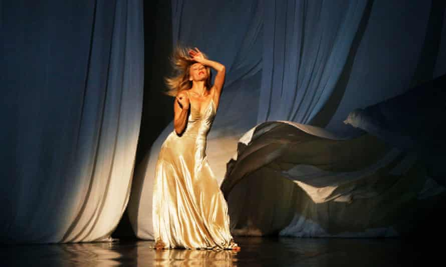 Julie Shanahan with the Tanztheater Wuppertal Pina Bausch perform Sweet Mambo at the Edinburgh Playhouse Theatre in 2014.