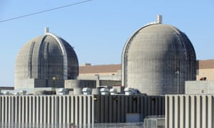 Two nuclear containment buildings for Westinghouse reactors at Plant Vogtle.