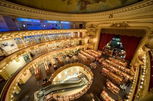 El Ateneo bookshop in Buenos Aires, Argentina is housed in a converted theatre.