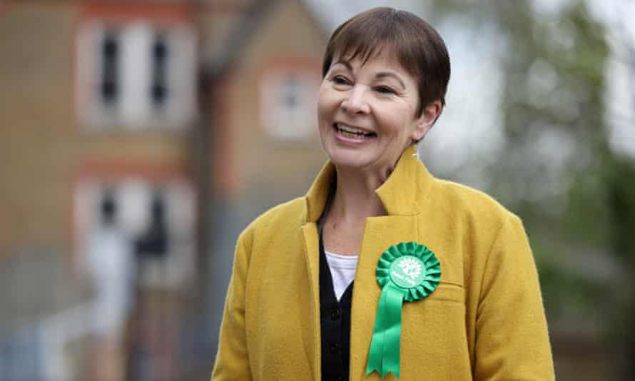 Green party MP Caroline Lucas during the London mayoral campaign.