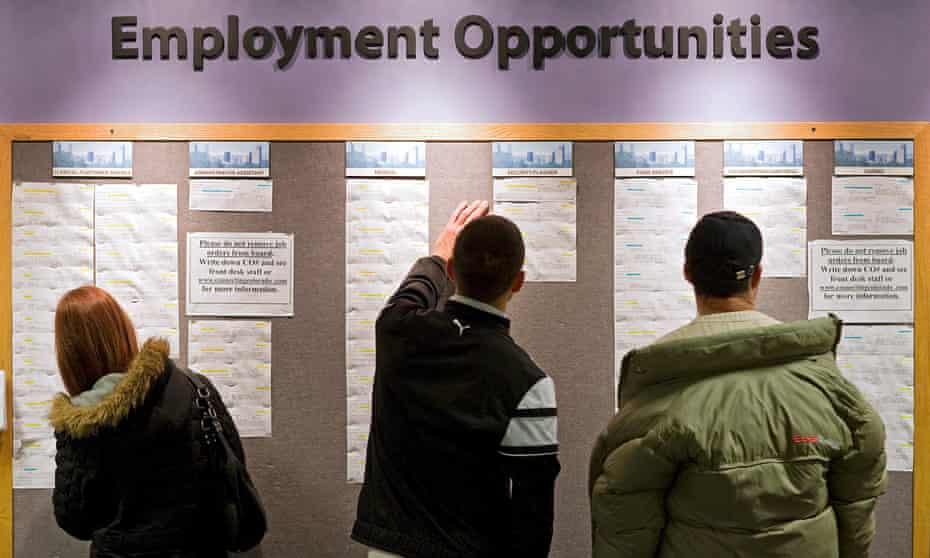 Job seekers in Denver.