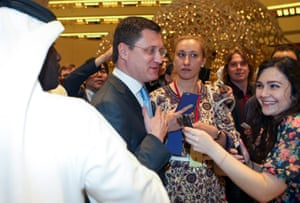 Russian Minister of Energy, Alexander Novak, was quizzed by journalists in Doha