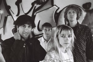 Sonic Youth in London, with Thurston Moore far right, 1987