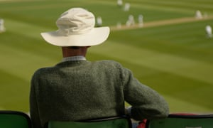 A spectator watches a County Championship match. 'At county cricket, with its less frenetic unfolding, a person could connect with what really mattered.'
