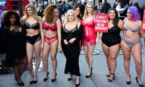 Hayley Hasselhoff (centre) leads models in protest during London fashion week.
