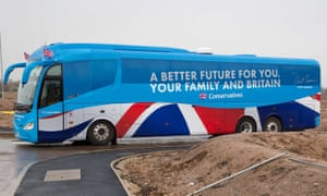 The Conservative party's election battlebus in April 2015.