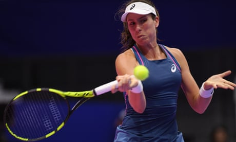 Johanna Konta crashes out of Pan Pacific Open to Donna Vekic