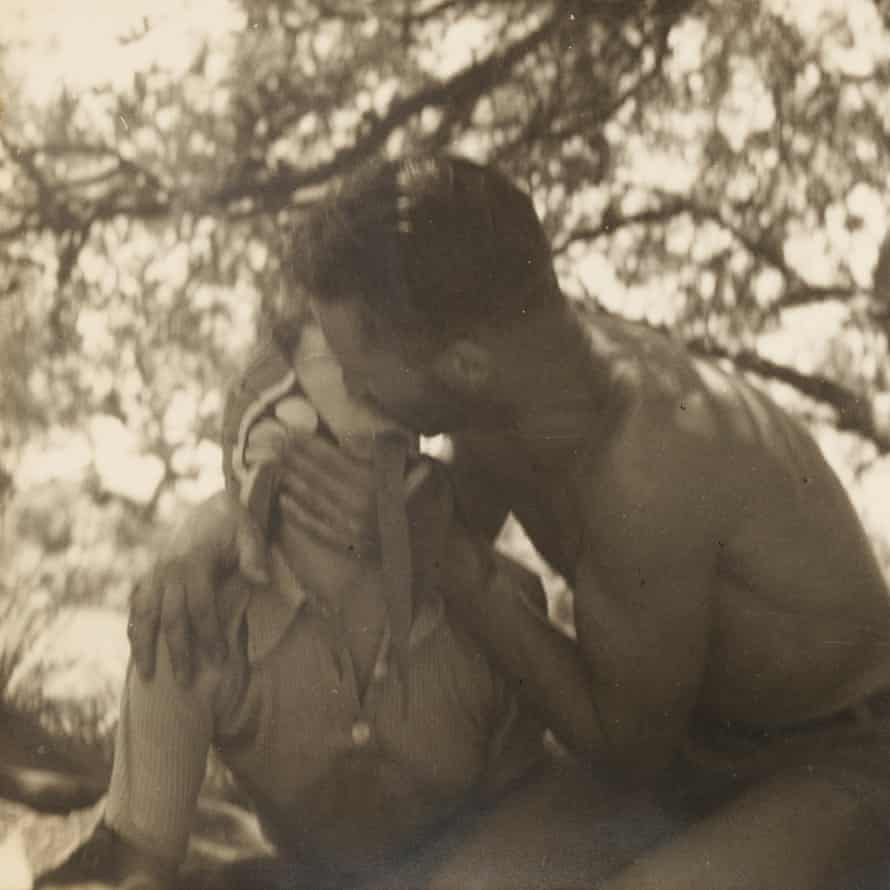 A photo from the camping trip in 1938 showing Harold Salvage and Gladys Harrison
