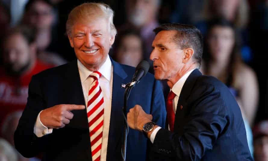 Donald Trump and Michael Flynn at a rally in Grand Junction, Colorado, on 18 October 2016.