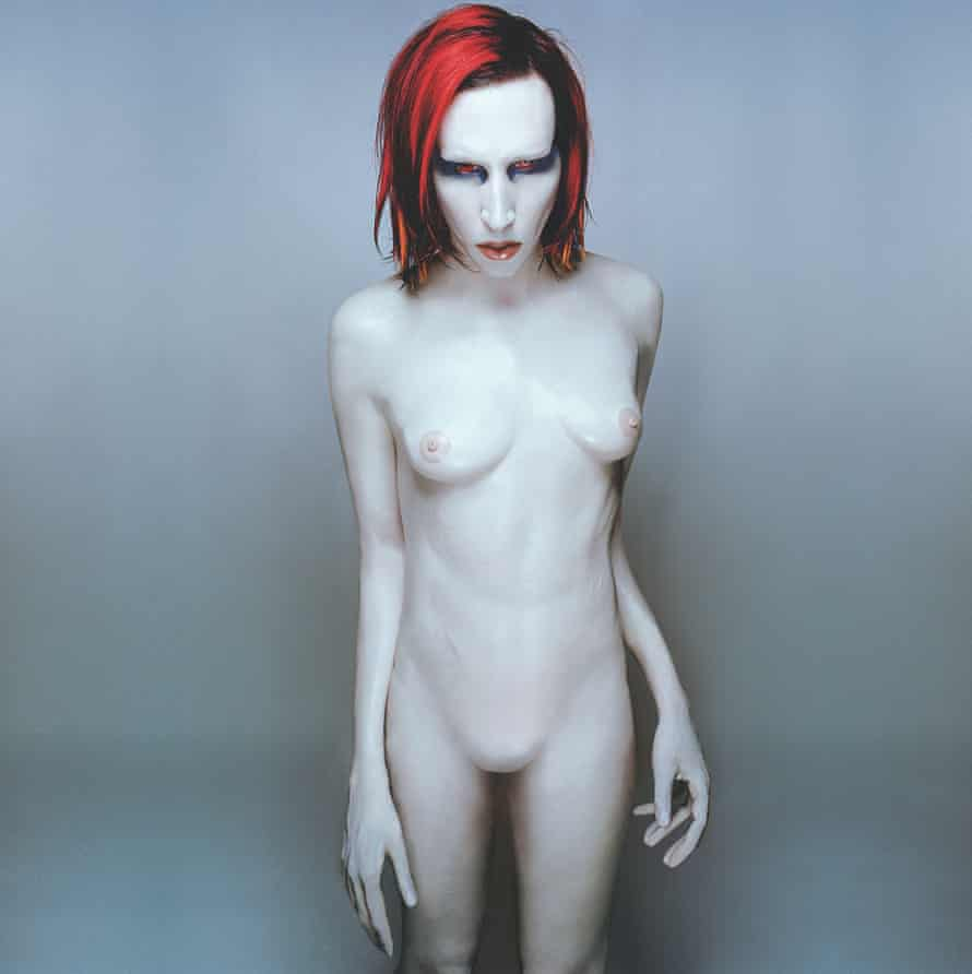 'He really got into it' … Marilyn Manson, in a shot taken for the cover of his album Mechanical Animals, 1998.