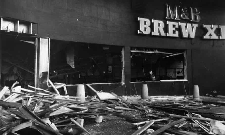 The Mulberry Bush pub after it was bombed in November in 1974