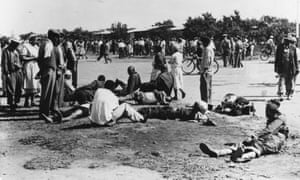 The aftermath of the Sharpeville massacre in 1960. Many younger voters cannot remember the horrors of apartheid.