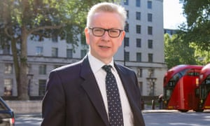 Michael Gove in Westminster, London