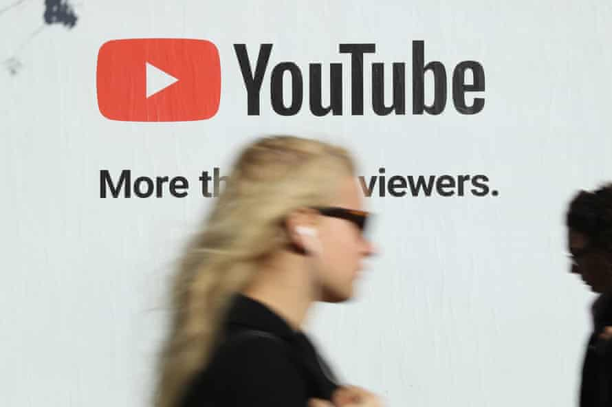 An advert for YouTube, which is being blamed in part for ongoing piracy.