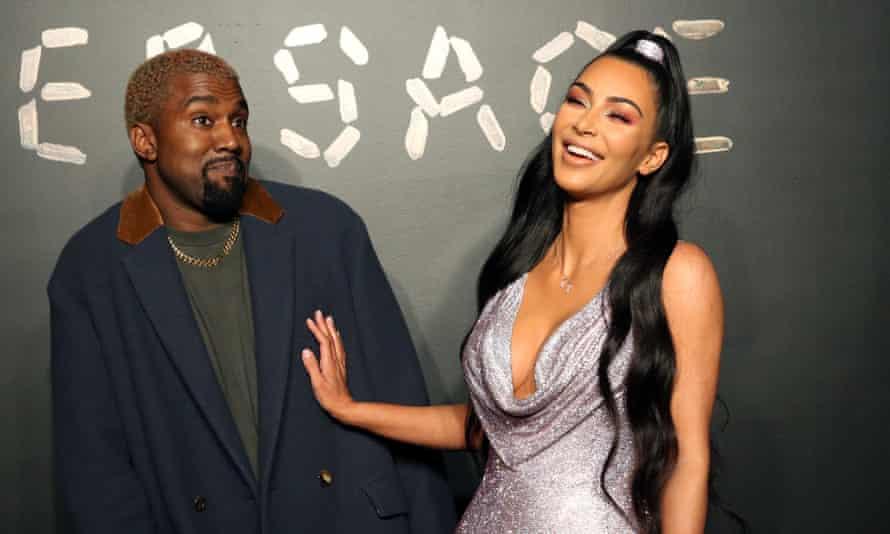 Kanye and Kim Kardashian.