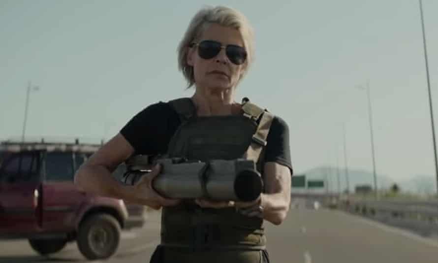 Lina Hamilton in Terminator: Dark Fate.