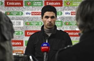 Arsenal manager Mikel Arteta dispenses some pearls of wisdom to Sky TV ahead of kick-off.