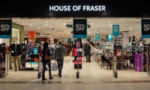 The House of Fraser department store at Lakeside in Essex.
