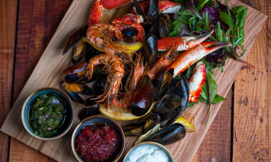 Shell out … a seafood platter at the Polurrian