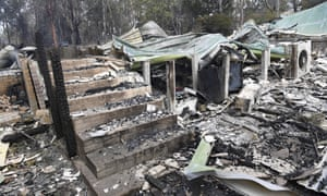 A burnt-out residence in Sarsfield, East Gippsland