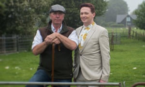 No farm done: Farmer Chris and Stephen Bailey.