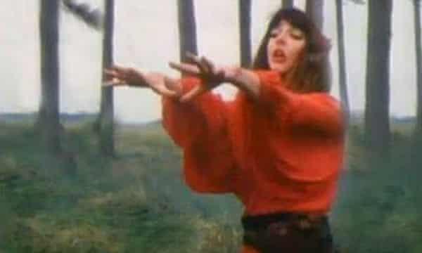 "Kate Bush singing ""Wuthering Heights""."