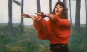 "Kate Bush singing ""Wuthering Heights""."