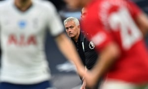 José Mourinho watches his Tottenham side take on Manchester United
