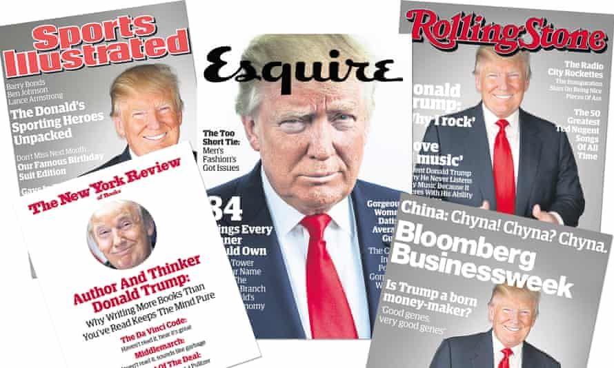 selection of fake Trump magazine covers
