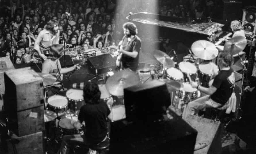 The Grateful Dead perform at Winterland, San Fransisco, in 1977.