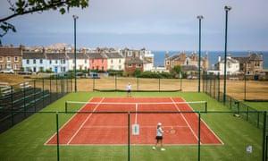 After the lockdown … North Berwick Tennis Club.