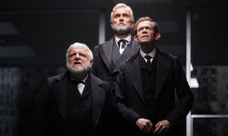 Simon Russell Beale, Ben Miles and Adam Godley in The Lehman Trilogy at the National Theatre, London.