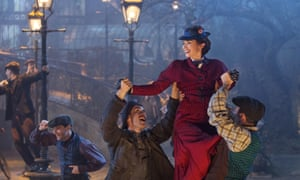 Emily Blunt as Mary Poppins in Mary Poppins Returns.