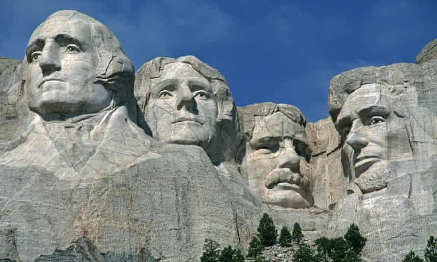 Mount Rushmore in South Dakota, US