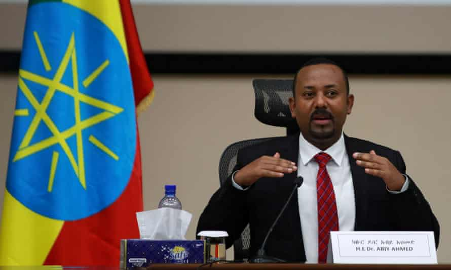 Ethiopia's prime minister Abiy Ahmed speaks during a question and answer session with lawmakers in Addis Ababa in November.