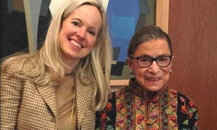 Ruth Bader Ginsburg with Lisa Beattie Frelinghuysen.