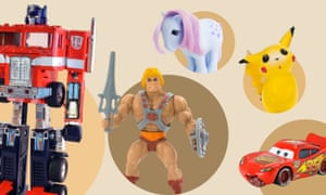 Action figures and toys from (from left) Transformers, Masters of the Universe, My Little Pony, Pokémon and Cars.
