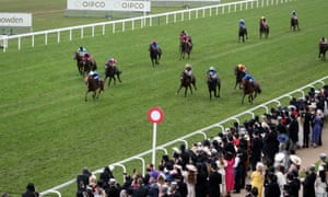Creative Force and James Doyle on their way to winning the Jersey Stakes.