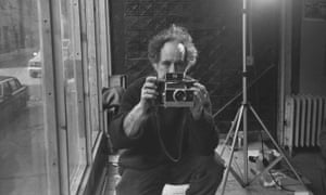 Robert Frank photographed by Allen Ginsberg at his house in Bleeker Street, New York.