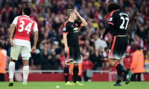 Manchester United's Bastian Schweinsteiger was off the pace faced with the speed and ingenuity of Arsenal's midfielders and forwards.