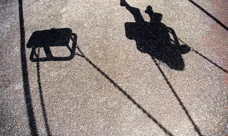 Shadow of a child on a swing