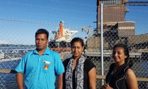 Erietera Aram with compatriots