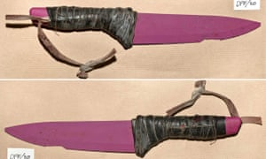 A pink ceramic knife used in the London Bridge attacks